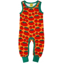 DUNS Tomatoes Velour Dungarees