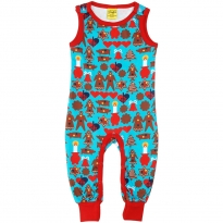 DUNS Turquoise Gingerbread Dungarees