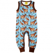 DUNS Turquoise Goat Dungarees