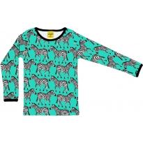 DUNS Adult Turquoise Zebra LS Top