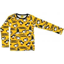 DUNS Yellow Puffin Velour LS Top
