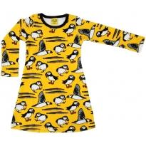 DUNS Yellow Puffin Velour LS Dress