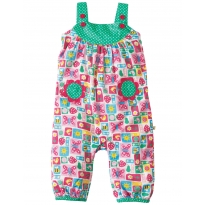 Frugi Strawberry Patchwork Springtime Dungarees