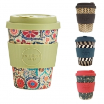 Ecoffee Cup 12oz Bamboo Coffee Cup - Patterns