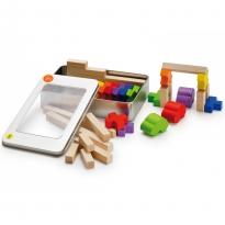 Erzi Building Log Toy In A Tin