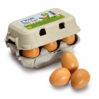 Erzi Six Brown Eggs