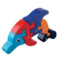 Wooden Dolphin 1-5 Jigsaw