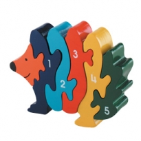 Wooden Hedgehog 1-5 Jigsaw