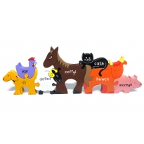 CYMRAEG Alphabet Jigsaws Farm Animals