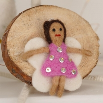 Fair Trade Felt Angel Decoration by Namaste