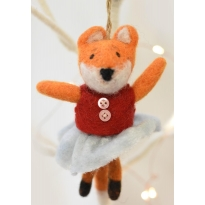 Fair Trade Felt Mrs Fox Decoration by Namaste