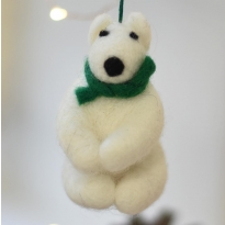 Fair Trade Felt Polar Bear Decoration by Namaste
