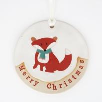 Babipur Fox Merry Christmas Decoration