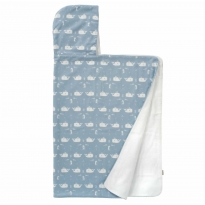 Fresk Hooded Towel Blue Whale