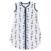 Fresk Muslin Lightweight Sleeping Bag, Indigo Giraffe