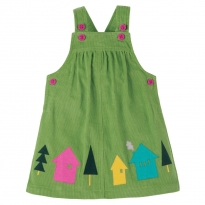 Frugi Alpine Houses Tilly Cord Pinafore Dress