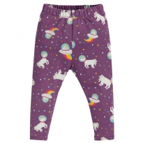 Frugi Amethyst Unicorn Libby Printed Leggings
