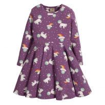 Frugi Amethyst Unicorn Sofia Skater Dress