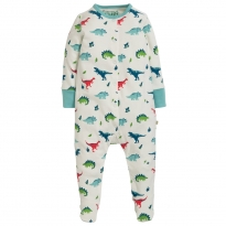 Frugi Aqua Dino Lovely Babygrow