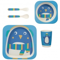 Frugi Penguin Bamboo Dinner Set