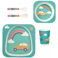 Frugi Rainbow Bamboo Dinner Set