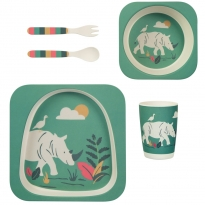 Frugi Rhino Bamboo Dinner Set