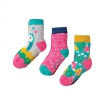 Frugi Barn Owl Susie Socks 3-Pack