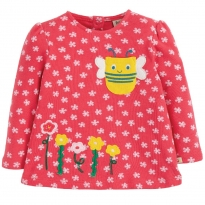 Frugi Bee Connie Applique Top