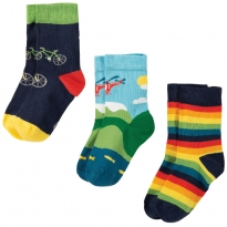 Frugi Bike Rock My Socks 3 Pack