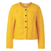 Frugi Bloom Bumble Bee Clover Cable Knit Cardigan