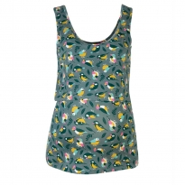 Frugi Bloom Grey Tweet Saffron Vest