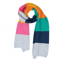 Frugi Bloom Rainbow Cosy Knitted Scarf