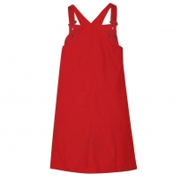 Frugi Bloom Red Berry Cord Pinafore