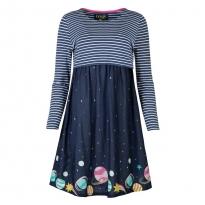 Frugi Bloom Space Voyager Sireli Smock Dress