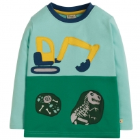 Frugi Blue Digger Peter Panel Tee