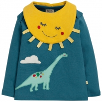 Frugi Blue Dino Bibs and Bobs Set