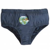 Frugi Blue Earth Barney Printed Briefs