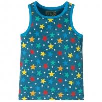 Frugi Blue Multi Star Voyager Vest