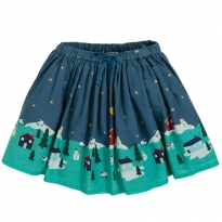 Frugi Christmas Village Twirly Dream Skirt