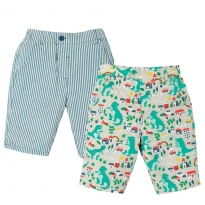 Frugi City Stomp Reuben Reversible Shorts