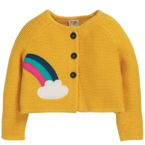 Frugi Cloud Little Annie Applique Cardigan
