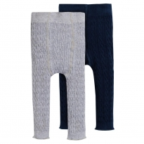 Frugi Cosy Cable Leggings 2 Pack