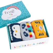Frugi Cosy Creatures Paw-some Socks In A Box