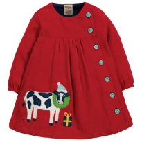 Frugi Cow Little Bonnie Button Dress