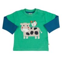 Frugi Cow Little Look Out Top