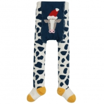 Frugi Crawl Away Cow Tights