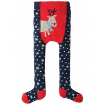 Frugi Reindeer Crawl Away Tights