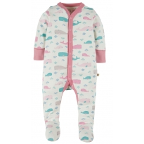 Frugi Little Whale Darling Babygrow