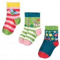 Frugi Deer Little Socks 3 Pack