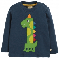 Frugi Dino Magic Number Top 12-18 Months